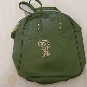 Handbags - Vintage 70's Forest Green Unbranded Purse 31917